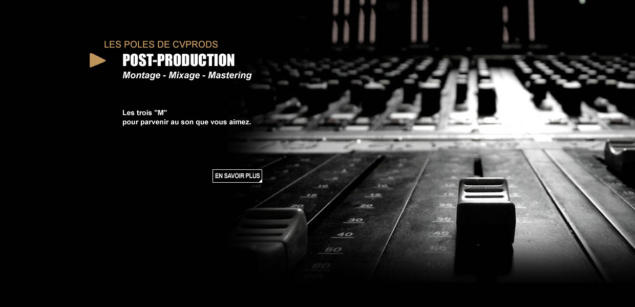 CVPRODS - Post-production